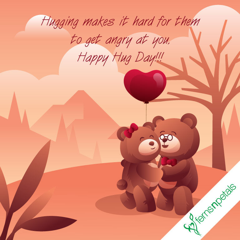 happy hug day wishes