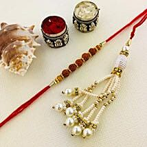 Awesome Lumba Rakhi Set: Rakhi for Bhaiya Bhabhi Australia