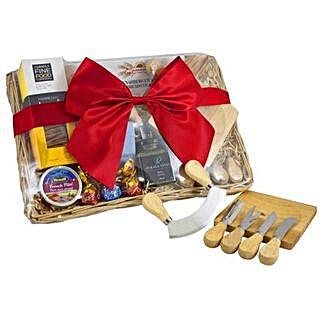 Cheese Set Picnic Basket: Send Diwali Gifts to Adelaide