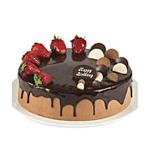 Double Chocolate Strawberry Cake
