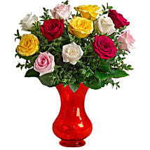 Dozen Assorted Roses: Just Because Flower in Australia