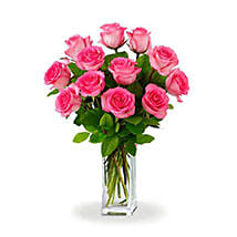 Dozen Pink Roses: Just Because Flowers to Australia