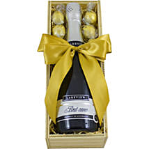 Elegant Love Wine And Milk Choco Truffles: Send Chocolates to Australia