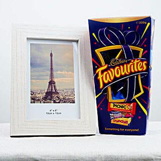 Favorite Chocolates N Photo Frame: Send Bhai Dooj Gifts to Australia