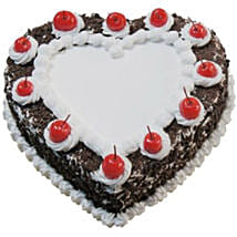 Heart Shaped Black Forest Cake: Valentine's Day Cakes to Australia