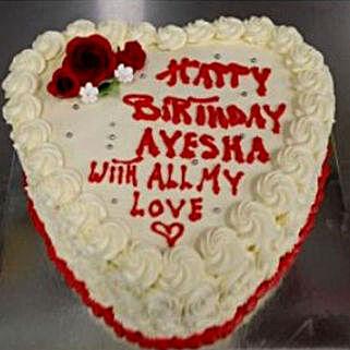 Heart Shaped Vanilla Cake: Anniversary Gift Delivery in Australia
