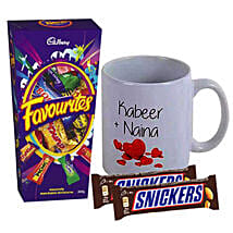 Love Personalised Mug With Chocolates: Valentine's Day Gifts to Australia