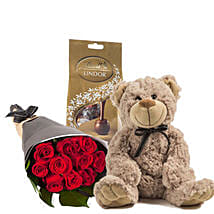 Lovely Red Roses Combo: Send Chocolates to Australia