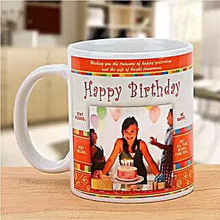 Personalized Happy Birthday Mug: