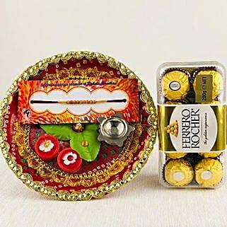 Rocher And Rakhi Thali: Send Rakhi Pooja Thali to Australia