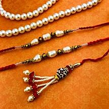 Set Of 3 Gorgeous Rakhi: Rakhi for Bhaiya Bhabhi Australia