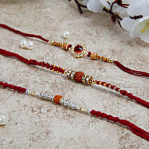 Three Beautiful Rakhi Set: Send Rakhi to Bulgaria