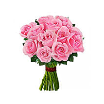 12 Beautiful Pink Roses: Valentines Flower Bouquets to Canada