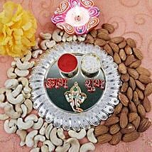 Acrylic Round Dry Fruits Thali: Diwali Gift Delivery Canada