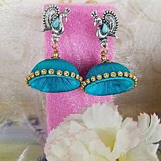 Adorned Thread Earrings: Rakhi Gifts for Sister in Canada
