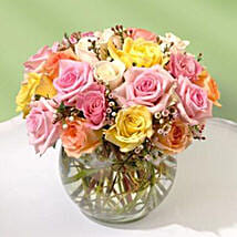 Beautiful Bowl of Roses: Miss You Flowers in Canada