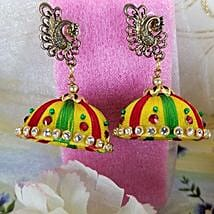Colored Thread Earrings: Send Jewellery to Canada