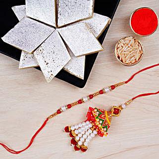 Designer Rakhi Set And Kaju Katli: Rakhi to Toronto