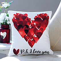 P S I Love You Printed Cushion: Personalised Gifts Canada
