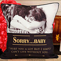 Personalized Sorry Cushion: Personalized Gifts Canada