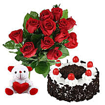 Valentine Black Forest Combo: Canada Gifts for Birthday