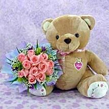 Bear n Flower CIN: Send Gifts to China