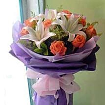 Rose Lily bouquet CIN: Anniversary Gift in China
