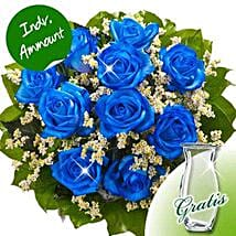 10 blue roses: Congratulations Flowers to Germany
