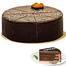 Dessert Sacher Cake: Anniversary Cakes in Germany