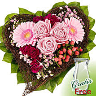 Flower Bouquet Herzenswunsch: Get Well Soon Flowers to Germany