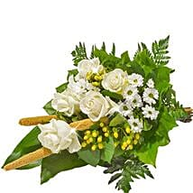 Sympathy Bouquet in White: Gifts to Dusseldorf