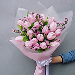 Ravishing Tulips Bouquet: Gifts to Indonesia