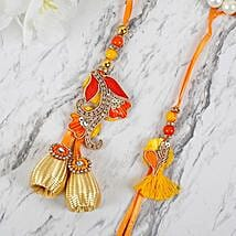 Appealing Zardosi Lumba Rakhi Set: Send Rakhi to Japan