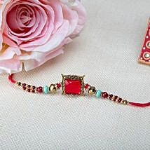 Square Pink Rakhi: Rakhi Delivery in Japan