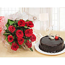 Forever Love Gift Combo: Birthday Cake Delivery in Kuwait