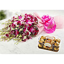 Ornamental Orchids And Choco Combo: Birthday Gift Delivery in Kuwait