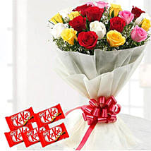Thrilling Flowers And Choco Combo: Send Gifts to Kuwait