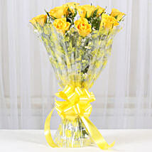 10 Bright Yellow Roses Bouquet: Roses for birthday