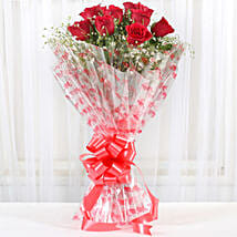 10 Red Roses Exotic Bouquet: Roses for Birthday