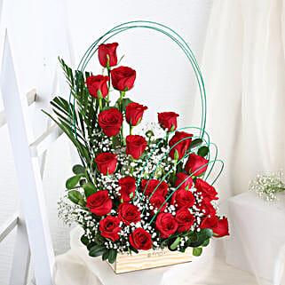 24 Red Roses Vase: