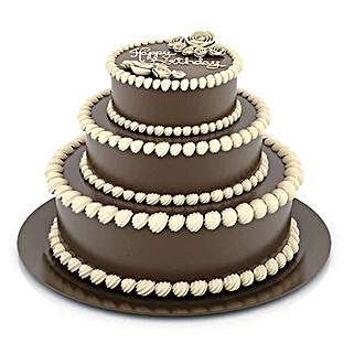 3 Tier Cream Truffle Cake: