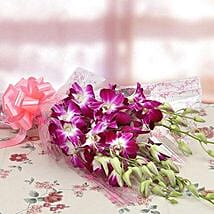 6 Royal Orchids Bunch: Flower Delivery in Dhule