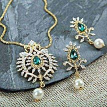 A Touch Of Green Pendant Set: Jewellery Gifts