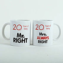 Always Right Couple Mugs White: Gifts To Jubilee Hills