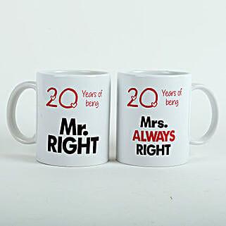 Always Right Couple Mugs White: Valentine Personalised Mugs