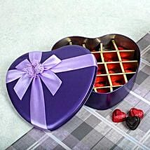 Assorted Chocolates Purple Heart Box: Chocolate Gifts in India