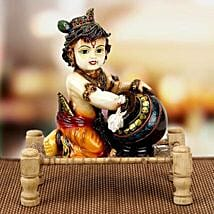 Bal Krishna With Matki on Charpai: Handicrafts to Mumbai