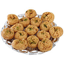 Balushahi In Silver Tray: Send Sweets to Thane