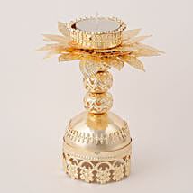 Beautiful Golden T Light Holder: Diwali Candles