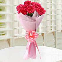 Beautiful Pink Carnations Bouquet: Congratulations